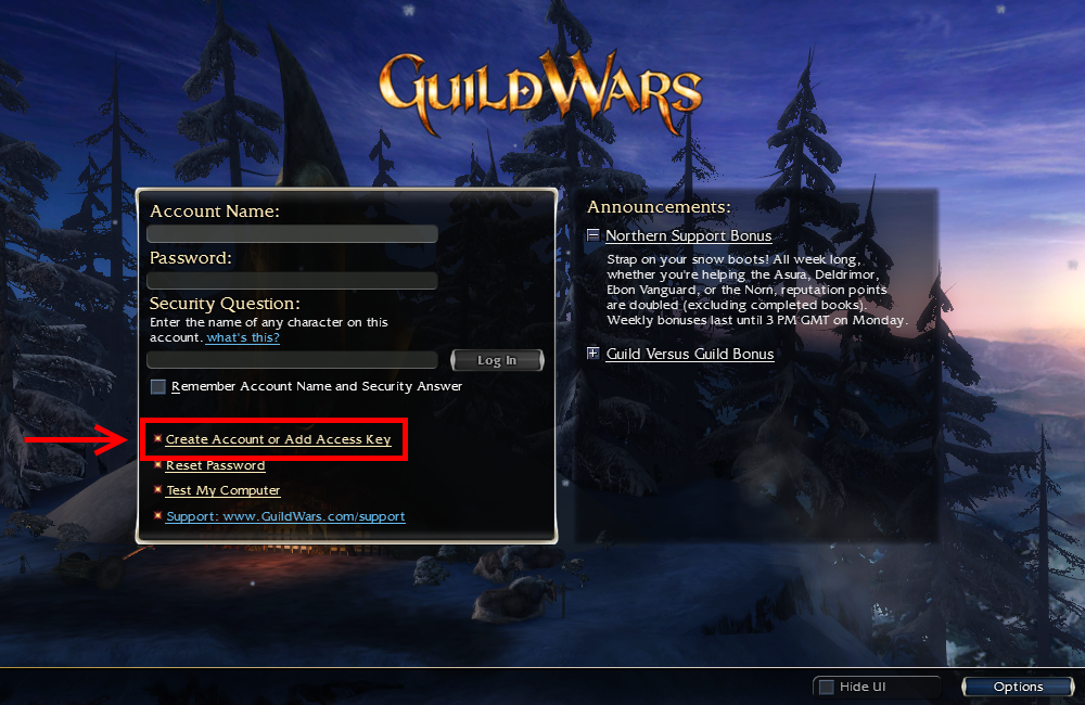 guild wars nightfall access key free